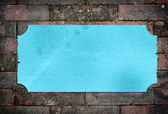 Etiqueta texturizada azul com bordas desgastadas — Foto Stock