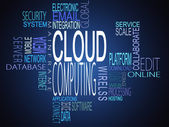 Cloud computing terms together — Stock Photo