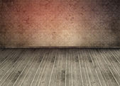 Outmoded wallpaper in an empty room — Stock Photo