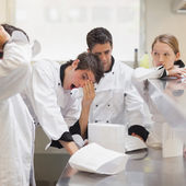 Tired chefs — Stock Photo