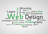 Group of green web design terms — Stock Photo