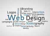 Groupe de termes de conception web bleu — Photo