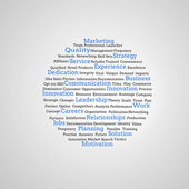 Group of blue marketing terms — Stock Photo