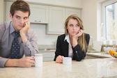 Kadın ve man bir anlaşmazlık — Stok fotoğraf