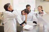 Exhausted team of chefs — Stock Photo