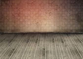 Empty room with dirty floorboards — Stock Photo