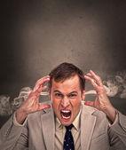 Hot headed business man yelling — Stock Photo