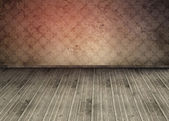 Empty room with old wallpaper — Stock Photo