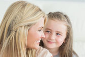 Laughing mother and daughter — Stock Photo