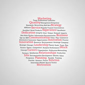 Group of red marketing terms — Stock Photo