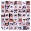 Collage of eyes — Stock Photo