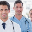 Three cheerful doctors — Stock Photo