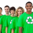 Stock Photo: Smiling group of environmental activists
