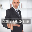 Stock Photo: Businessmselecting term customer satisfaction