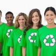 Cheerful group of environmental activists — Stock Photo #26982927
