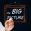 Businessman drawing frame with the big picture text in it — Stock Photo #26983473