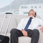 用尽的商人睡觉 — 图库照片