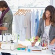 Fashion designers working — Stock Photo