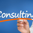 Woman writing consulting — Stock Photo