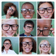 Stock Photo: Collage of smiling pupils