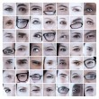 Collage of pictures with eyes — Stock Photo