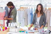 Young fashion designers working — Stock Photo