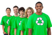 Smiling group of environmental activists — Stock Photo