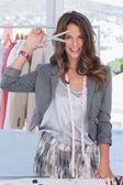 Fashion creative designer looking at the camera — Stock Photo