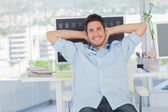 Veselá tvůrčí podnikání zaměstnanců spočívající — Stock fotografie
