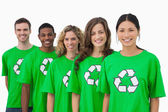 Cheerful group of environmental activists — Stock Photo