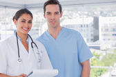 Medical staff standing together — Stock Photo