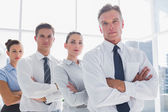 Business standing together in line — Stock Photo