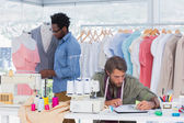 Team of fashion designers — Stock Photo