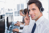 Portrait of a confident call center agent — Stock Photo