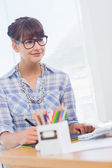 Designer working on graphics tablet — Stock Photo