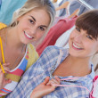 Two friends with shopping bags — Stock Photo #26990227