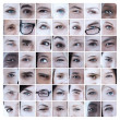 Stock Photo: Collage of different eyes