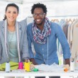 Two fashion designers smiling — Stock Photo