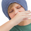 Sick young boy — Stock Photo