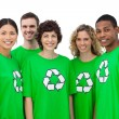 Stock Photo: Group of environmental activists smiling