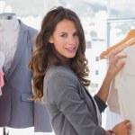 Fashion woman choosing clothes — Stock Photo