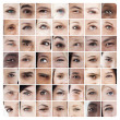 Stock Photo: Collage of various eyes