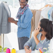 Group of fashion designers working together — Stock Photo