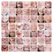 Collage of various smiles — Stock Photo #26993975