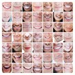 Stock Photo: Collage of various smiles