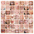 Collage of smiles — Stock Photo