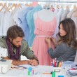 Fashion designers working together — Stock Photo #26995137
