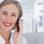 Portrait of businesswoman calling — Stock Photo