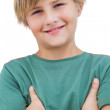 Smiling little blonde boy — Stock Photo