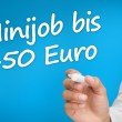 Stock Photo: Hand writing with a marker minijob bis 450 euro